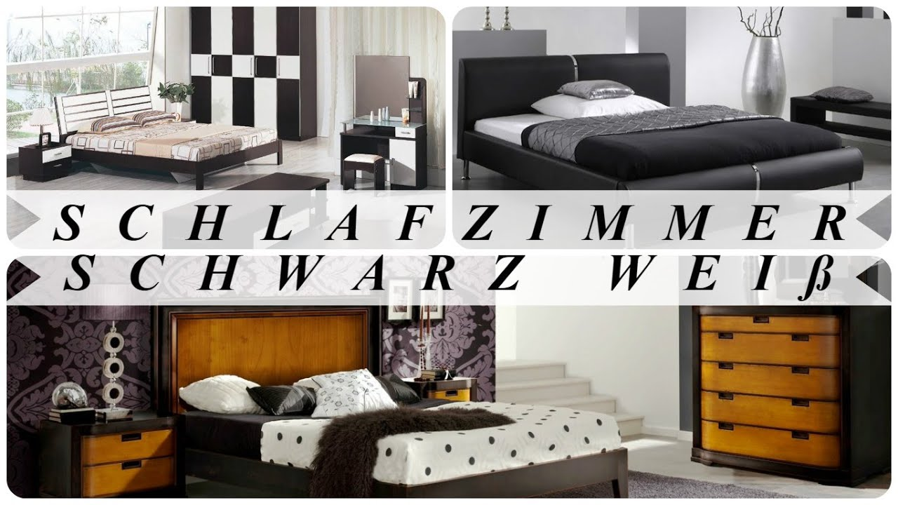 schlafzimmer schwarz wei youtube. Black Bedroom Furniture Sets. Home Design Ideas