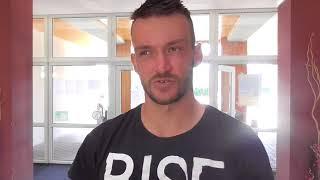 Michal Konečný po vítězství v 1. kole Rieter Open Ústí nad Orlicí 2018