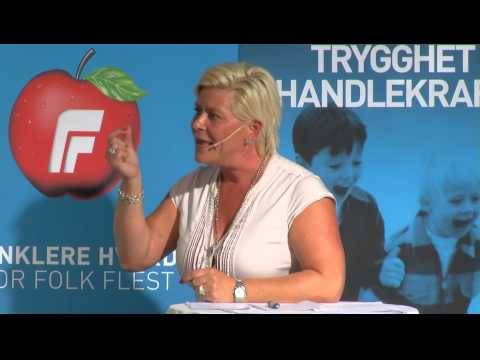 Partilederduell 6. august: Jens Stoltenberg mot Siv Jensen