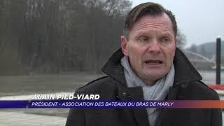Yvelines | Les péniches du bras de Marly face à la crue de la Seine