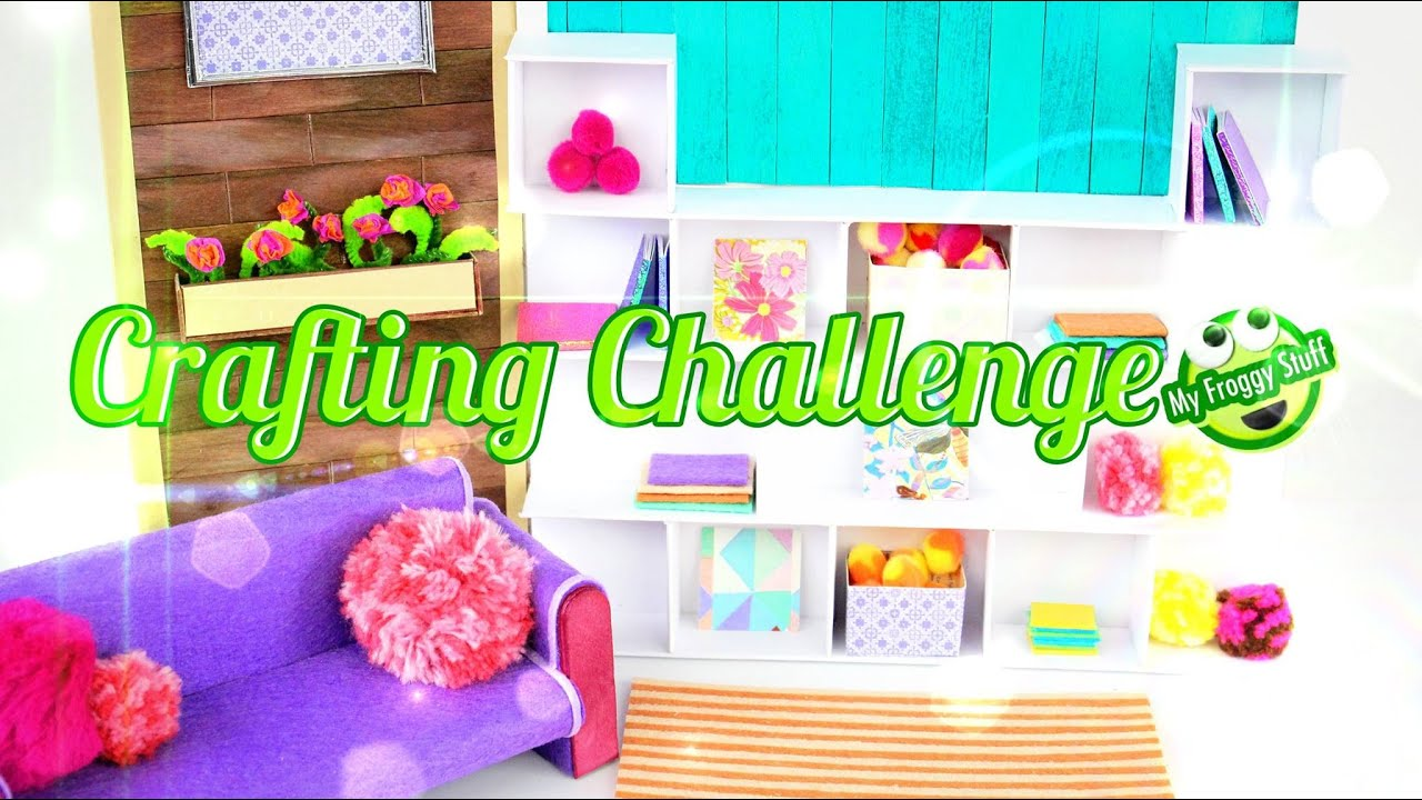 Awesome DIY   EeBoo Craft Challenge: How To Make A Doll Room   Doll Crafts   YouTube Part 27