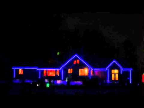 how to decorate your house outline with rgb led stripwmv