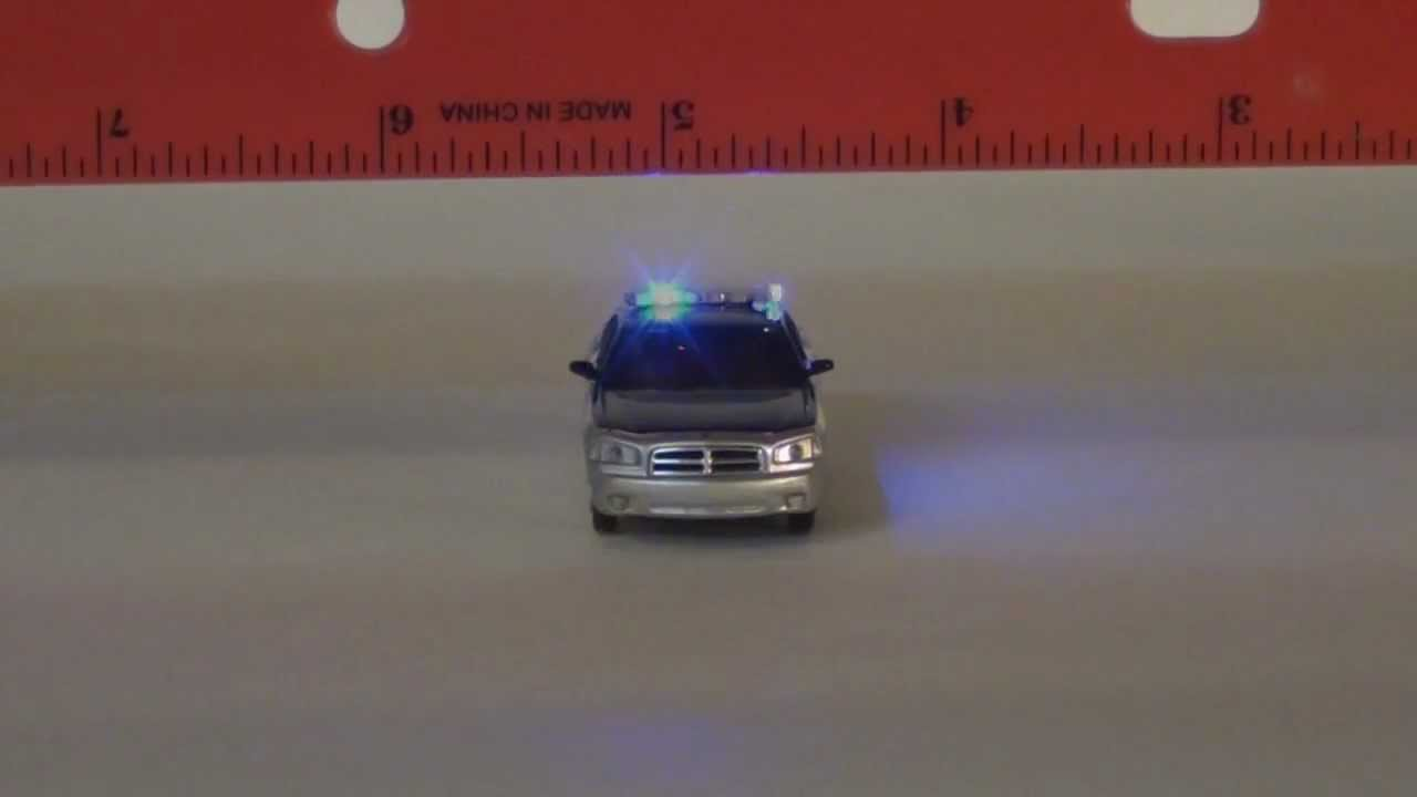 Ho Scale Dodge Charger State Police With Emergency Lights