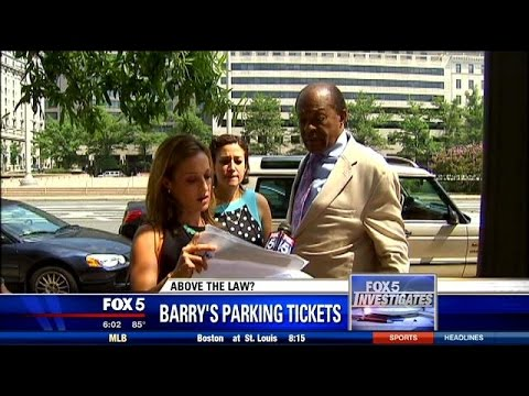 Emily Miller asks Marion Barry about unpaid parking tickets