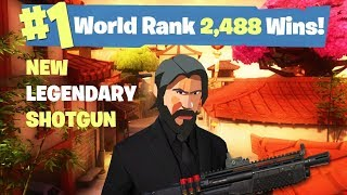 #1 World Ranked - 2,488 Solo Wins - New Weapon Today! - Fortnite Live Stream