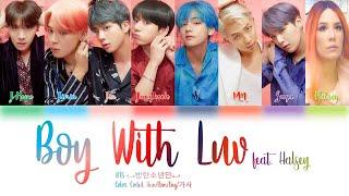 BTS - (Boy With Luv) feat. Halsey Lyrics Color Coded (Han/Rom/Eng) Easy Lyrics