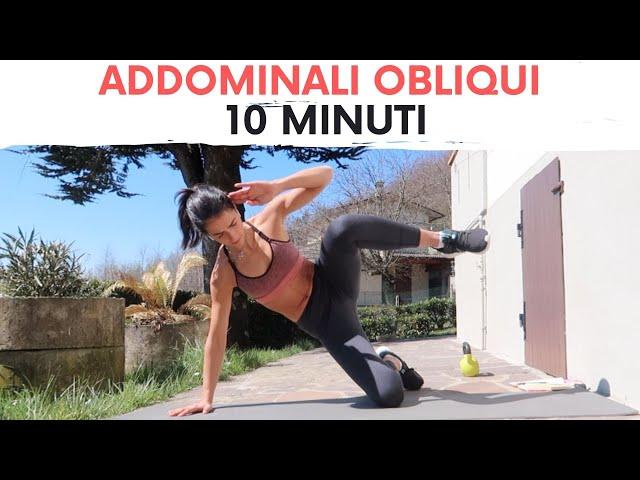 ADDOMINALI OBLIQUI in 10 MINUTI | Silvia Fascians