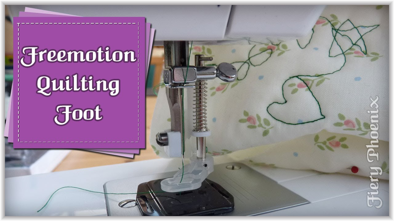 How To Use A Quilting Foot By Babs At Fiery Phoenix Youtube