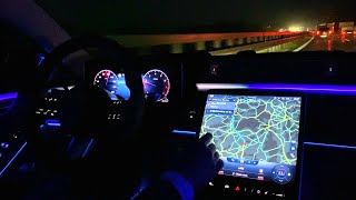 2021 Mercedes S Class AMG - Night Drive Full Review S580 4MATIC Interior Exterior Ambient Light