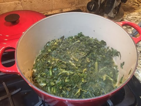 Heathier Turnip Greens Recipe