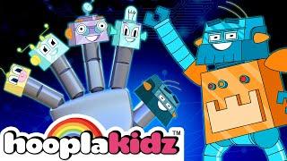 Robot Finger Family Song + More Nursery Rhymes & Kids Songs - HooplaKidz