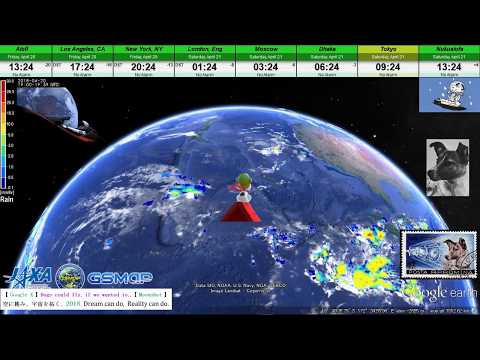 【 Google Earth × SNOOPY 】 World Weather Report / 21 April 2018 【 FLYING ACE × The Wind Rises 】