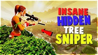 INSANE Hidden Tree Sniper | SECRET Funny Way to WIN (Fortnite Battle Royale)