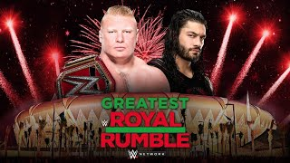 Roman Reigns vs Brock Lesnar in a Steel Cage for the Universal Championship at Greatest Royal Rumble