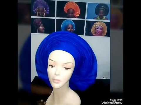 39586823f9a6 AutoGele ready made gele (the gele that ties itself..) - YouTube
