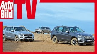 BMW X5 vs. Mercedes ML vs. Jeep Grand Cherokee