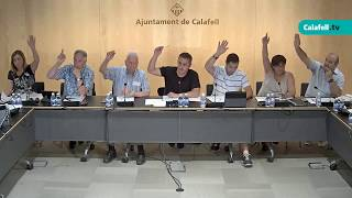 Ajuntament de Calafell: sessió plenària ordinària, 3 de juliol de 2017