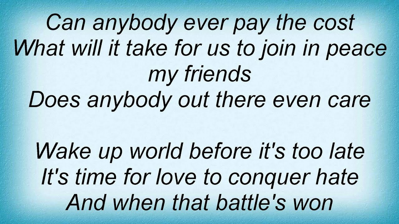 Lenny Kravitz Does Anybody Out There Even Care Lyrics