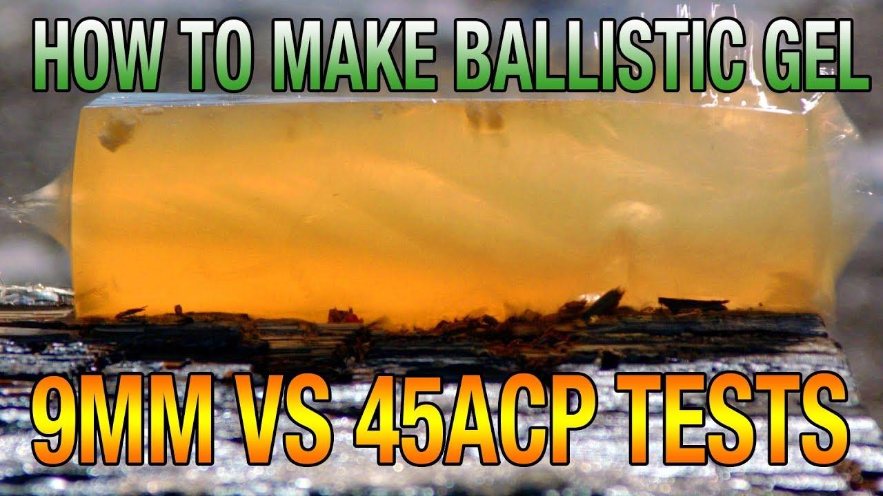 DIY Ballistic Gel Recipe | How to Make & Shooting Tests | 9mm VS 45acp