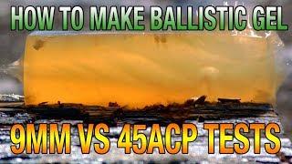 DIY Ballistic Gel Recipe  How to Make &amp Shooting Tests  9mm VS 45acp