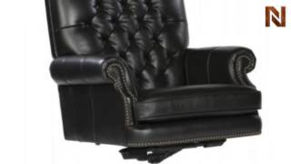 Hekman Executive Tilt Swivel Tufted Office Chair - Black 7-9253B