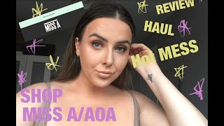 SHOP MISS A | HAUL | REVIEW | ABSOLUTE HOT MESS