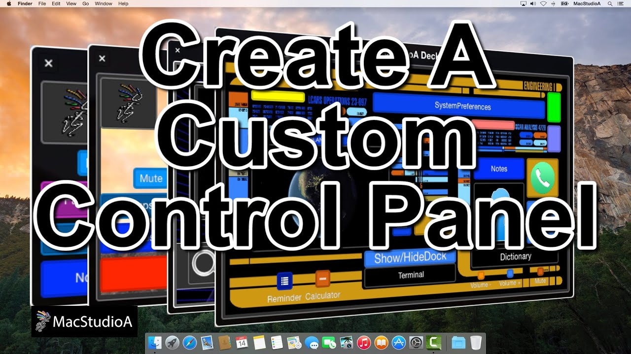 Create a Control Panel on Mac OS X Yosemite