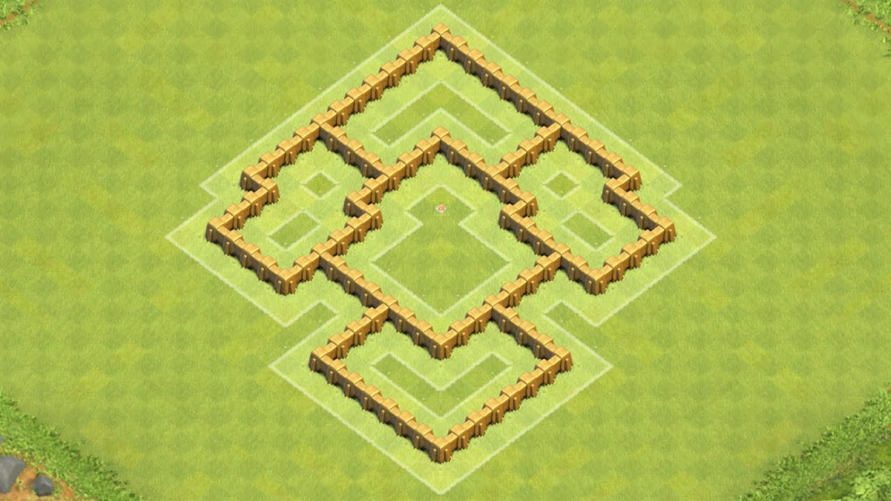 Clash of clans town hall 5 defense coc th5 best trophy base layout