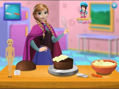 Мультик игра Холодное сердце: Анна готовит торт (Anna Cooking Frozen Cake)
