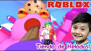 Ice Cream in Roblox ESCAPE FROM THE ICE SHOP ? Roblox games for kids