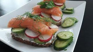 Датский рыбный Бутерброд + Рецепт ЗАСОЛКИ РЫБЫ
