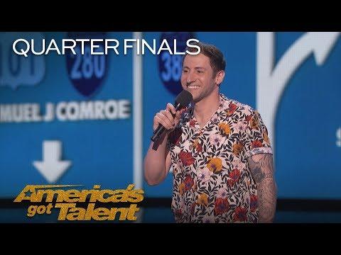 Samuel J. Comroe: Comedian Tells Hilarious Puppy Adoption Story - America's Got Talent 2018