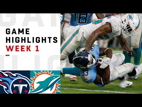 Titans vs. Dolphins Week 1 Highlights   NFL 2018