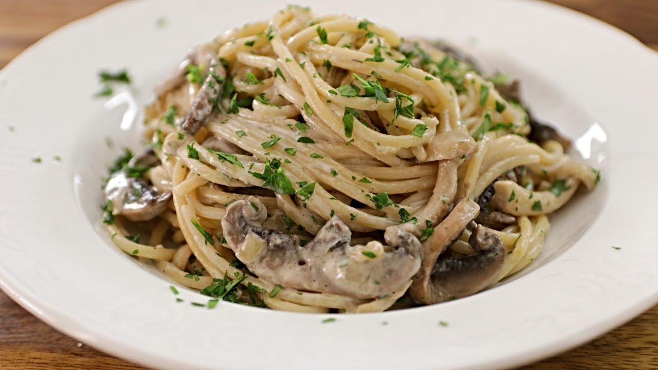 Creamy Mushroom Pasta Recipe Youtube