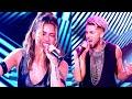 """#CANTANDO2020 Facu Mazzei y Agus Agazzani con sensualidad cantaron y bailaron """"Livin' la vida loca"""""""