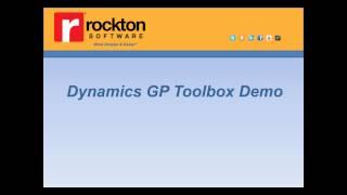 GP Add-On  ISV Weekly Webinar Series Part 5 - Rockton Software