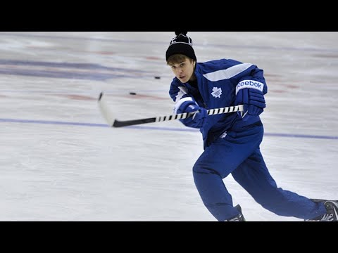 Celebrities Playing Hockey