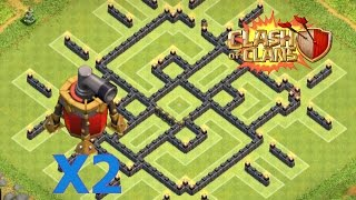 Clash Of Clans - Epic Th9 Trophy Push/clan War Base W/ 2 Air Sweepers Speed Build