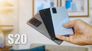 Samsung Galaxy S20 vs S20+ vs S20 Ultra: Hands on Comparison