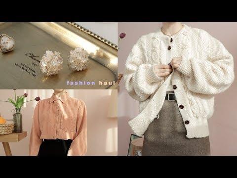 🍒 오사카, 쇼핑몰 Fashion Haul : 빈티지, 니트, 가방, 무스탕 / 데일리룩 / 겨울룩 ✰ Ood 오드