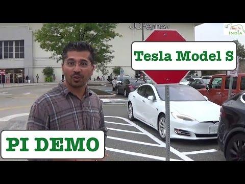 Tesla Model S : In-Depth Demo with Kedar Soman (Auto Pilot & Auto Braking)