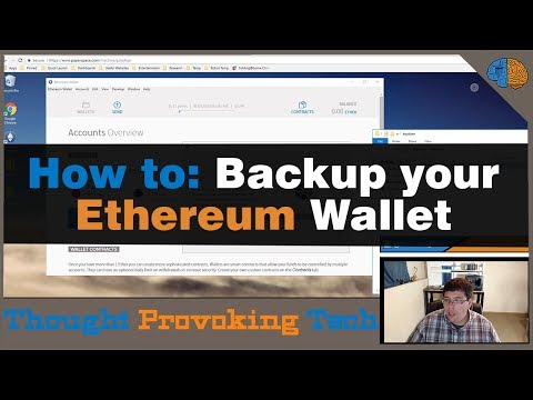 How To: Backup Your Ethereum Wallet!