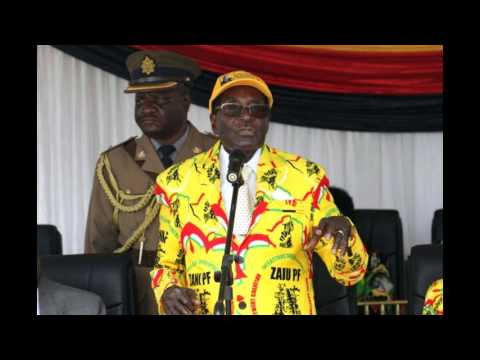 President Mugabe addresses Zanu-PF supporters at Sakubva Stadium in Mutare