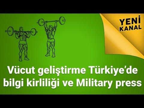 Vücut geliştirme Türkiye de bilgi kirliliği ve Military press