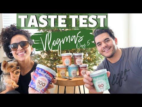 Vlogmas Day 5 || BEST DAIRY FREE ICE CREAM: Enlightened Taste Test