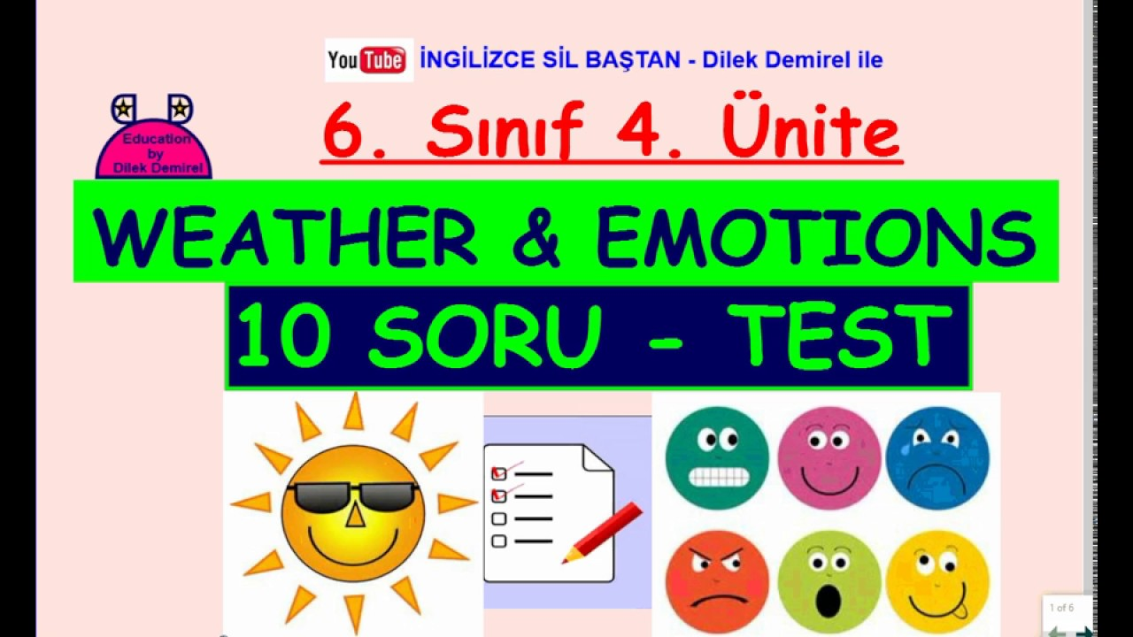 Unite Weather And Emotions Test