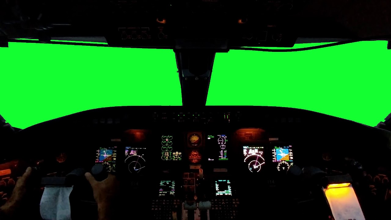 Green Screen Aircraft Cockpit [FREE DOWNLOAD]