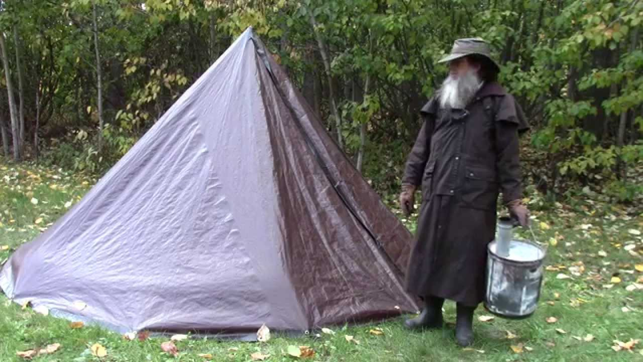 & Turn Your Tarp Tent Into a Hot Tent - Stove Installation - YouTube