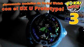 invocando medallas de yo kai watch con el dx u prototype p3 serie 5 original