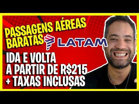 (LATAM MEGAPROMO) PASSAGENS AÉREAS BARATAS A PARTIR DE R$215 + TAXAS INCLUSAS